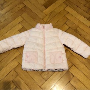 Pink Toddler Girl Zara Puffer